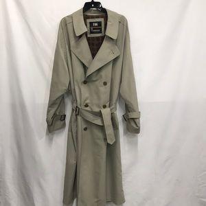 London Fog Trench Coat Rain Coat Tan Size 42